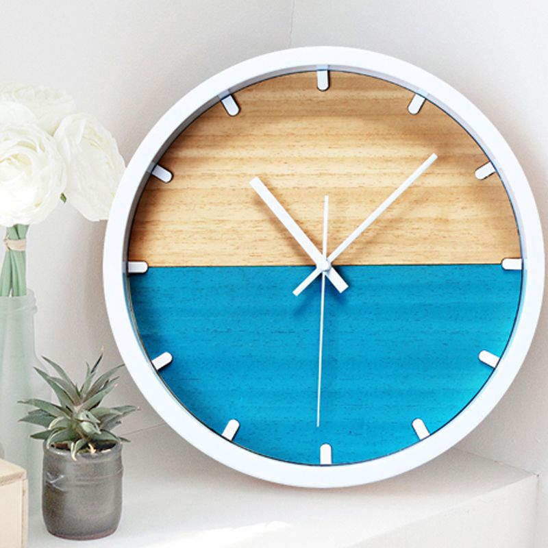 Two Colored Wooden Wall Clock Free Shipping Worldwide Wooden Walls Wall Clock Clock