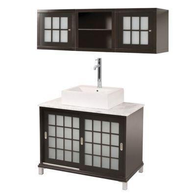 Home decorators collection zen 14 in w bathroom storage wall cabinet in espresso