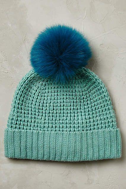 Anthropologie EU - Yukon Faux Fur Beanie. This classic beanie pairs a  chunky weave with a playful pom-pom d34e602dc38