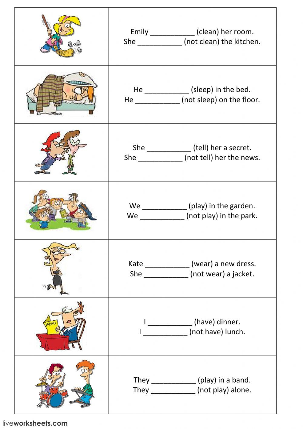 Present Simple Interactive And Downloadable Worksheet You Can Do The Exercises Online Or Downl Simple Present Tense Worksheets Grammar For Kids Verbs For Kids [ 1413 x 1000 Pixel ]