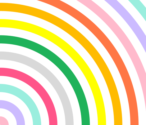 Wallpaper Pastel Rainbow Full Circle Fabric print design