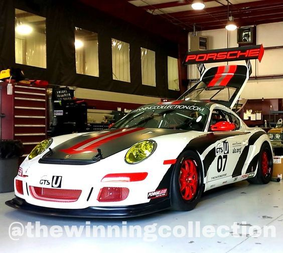The Winning Collection  Black  Red  White  Race Car  Porsche  Cayman  Forged Wheels