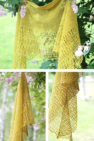 Rosewater Pattern By Janina Kallio Pinterest Shawl Knit Shawls