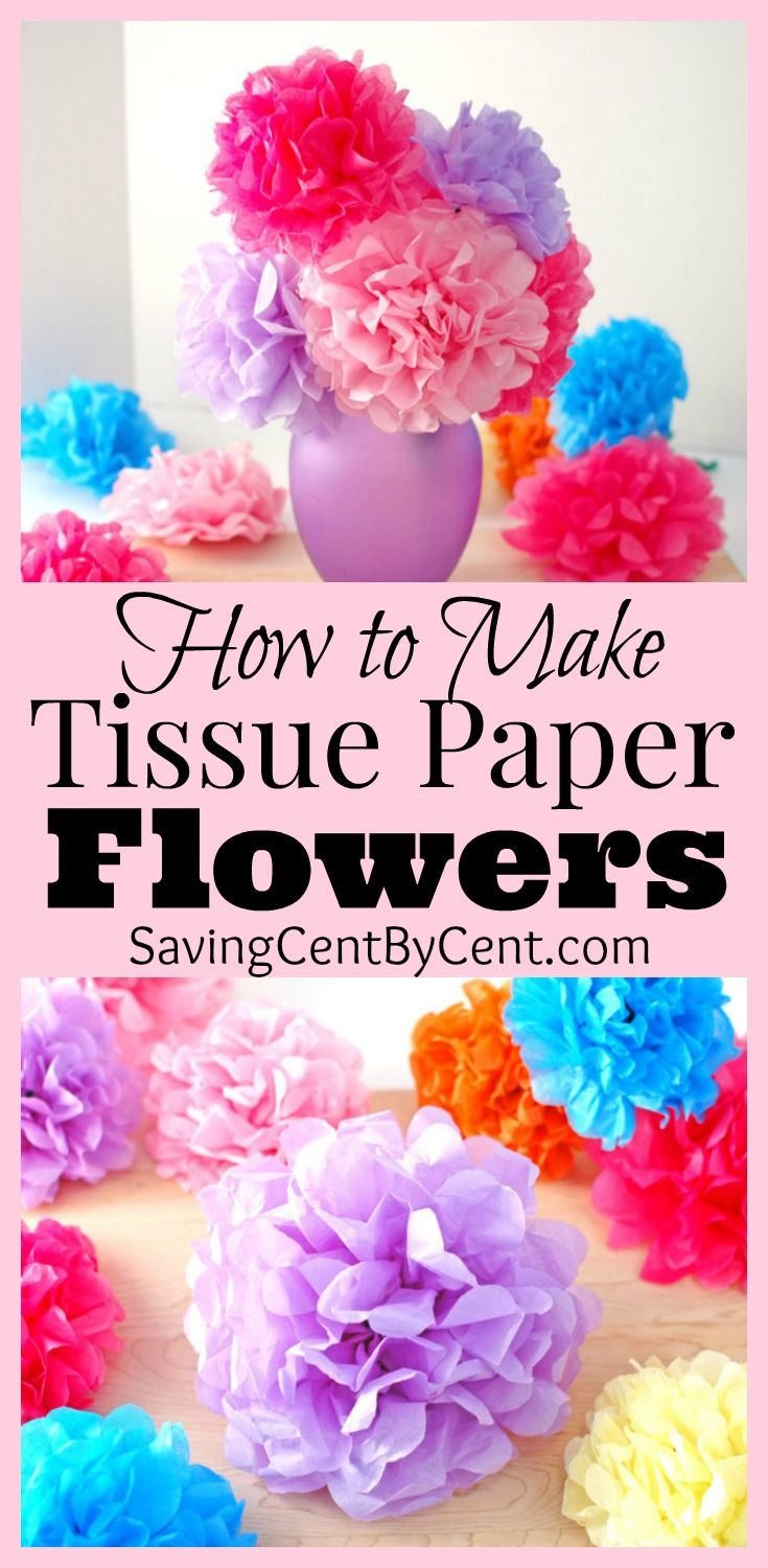 How To Make Tissue Paper Flowers Video Tutorial Saving Cent By