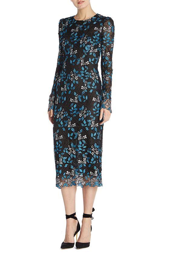 b3fd700d Long Sleeve Sheath Dress - 4 / NOIR BOTANICAL | Shop Ready to Wear ...