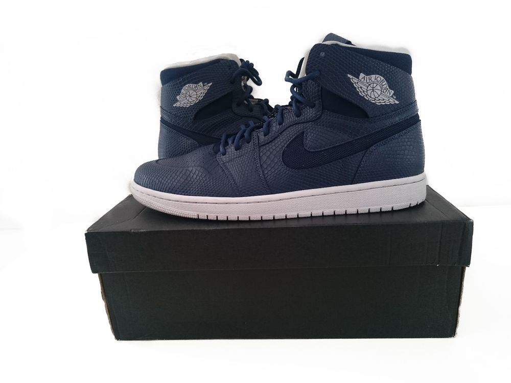 size 40 18268 00035 Air Jordan 1 High Nouveau  Navy Snake  SKU  819176 407  Jordan