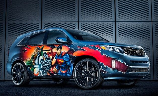 Kia Superhero Cars As Part Of Showing Its Support For Dc Comics We Can Be Heroes Campaign