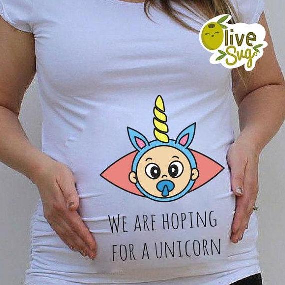 ea024f5407356 Unicorn SVG, Unicorn baby SVG, Maternity funny shirt, funny t shirt,  Pregnancy svg, pregnant T Shirt