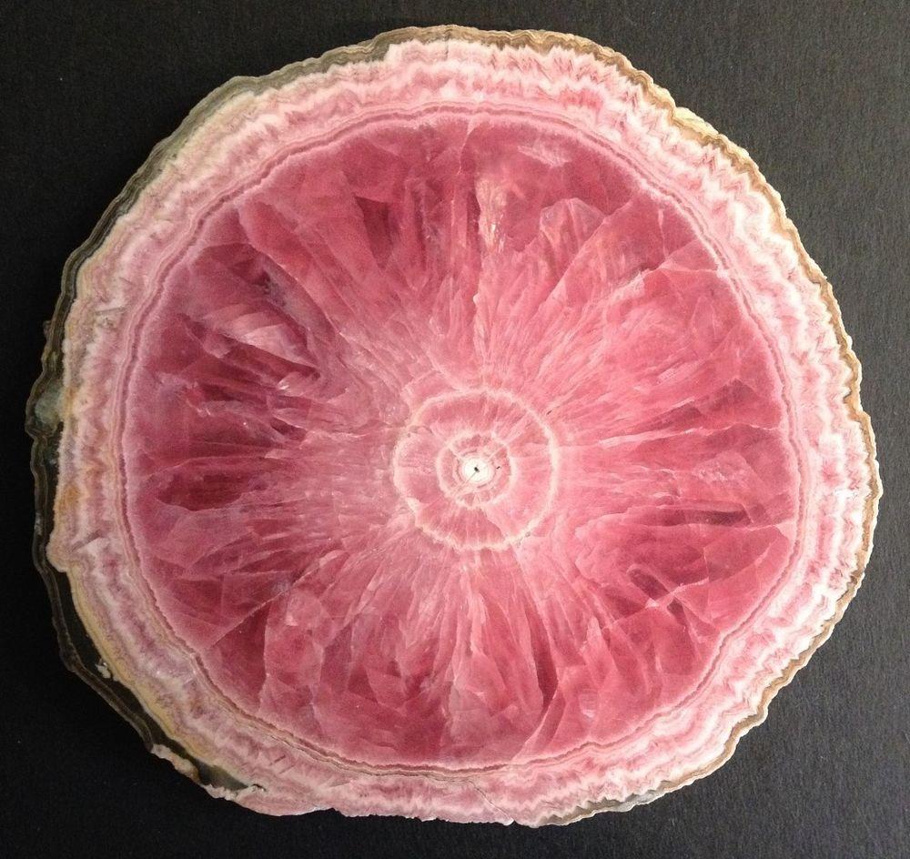 "3.5"" Rhodochrosite Stalactite Perfect Slice Polished Catamarca, Argentina"