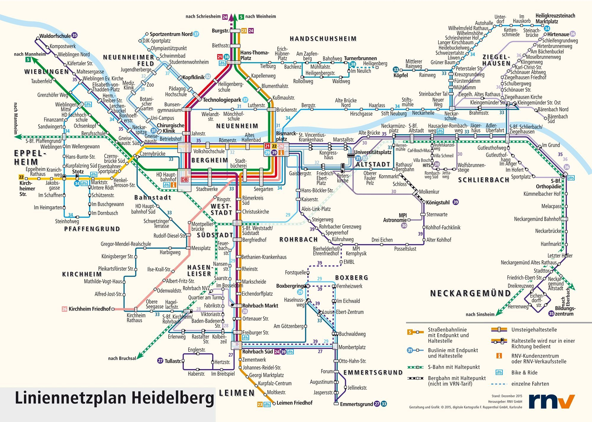 transportation map for backpackers planning to go to heidelberg travelinter