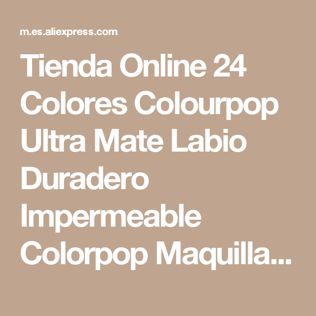Tienda Online 24 Colores Colourpop Ultra Mate Labio Duradero Impermeable Colorpop Maquillaje Lápiz Labial de Color brillo de Labios del Pop | Aliexpress móvil