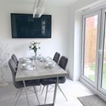 Fair do's this isn't the best picture for this area... I'll definitely do another one when I'm not sprawled out on the sofa 😂 but until then... this is the dining area. I LOVE my marble effect table with grey suede chairs◽️ this area is perfect when entertaining guests and have the patio doors open ✨ . . #ruffordhome #therufford #rufford #persimmon #persimmonhomes #newbuild #newbuildhome #newbuildjourney #insta #instapic #instasize #instagram #instagood #instamood #diningroom #dining #diningroo