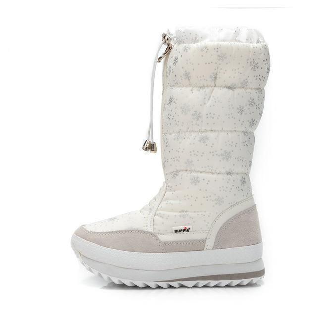 Knee High Girls Winter Boots Zipper Up Shoe White Colour New Season