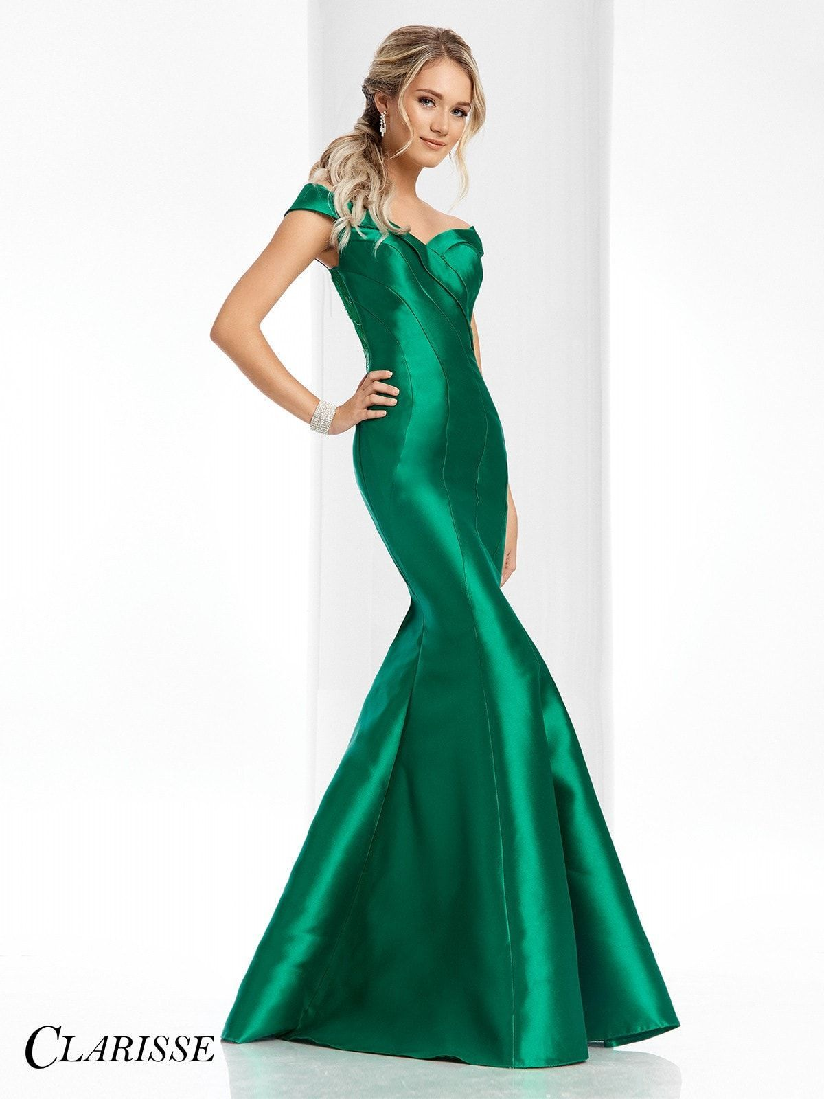 Clarisse Couture 4820 Forest Green Mermaid Prom Dress Dresses Prom Dresses Green Mermaid Prom Dress [ 1600 x 1200 Pixel ]
