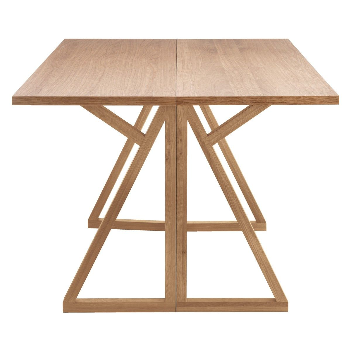 Folding Dining Table heath 2-4 seat oak folding dining table | solid oak, construction