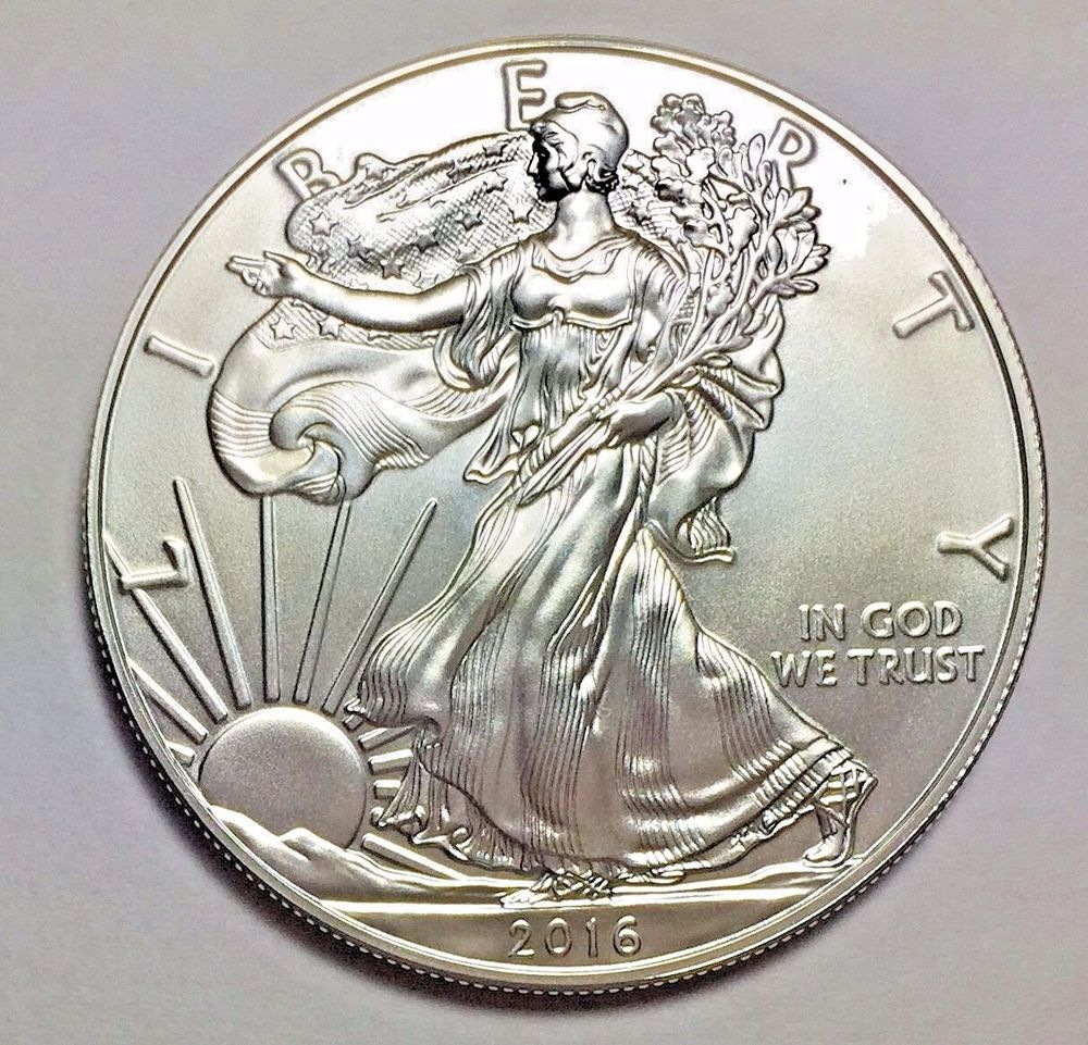 2016 Silver American Eagle 1 Oz 999 Fine One Dollar Bu Brilliant Uncirculated Old Coins Coins Gold Eagle Coins