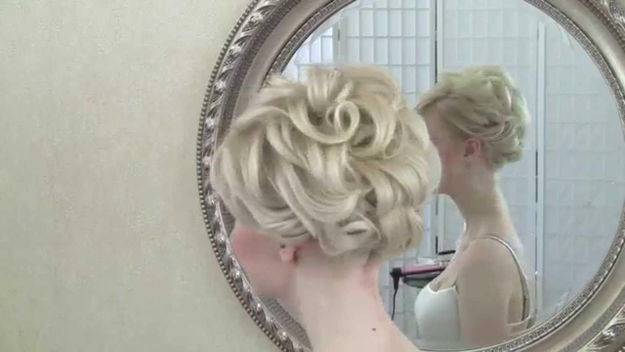 Wedding Hairstyling Video Short Hair Updo Short Wedding Hair Short Hair Updo Soft Curls Short Hair