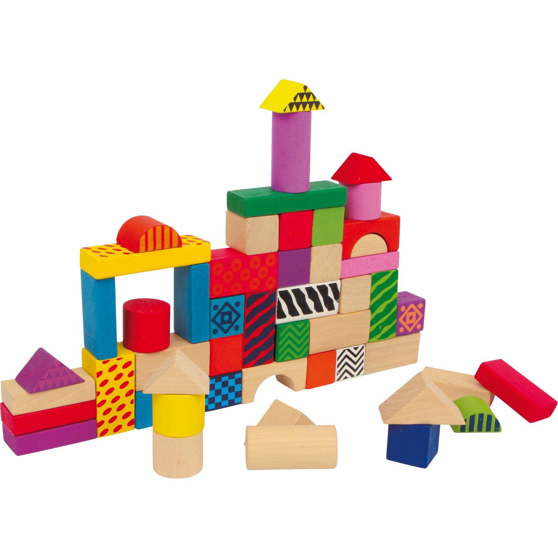 Imaginația nu cunoaște limite cu acestă jucărie educativă din lemn! Găleata conține cărămizi de diferite forme și mărimi, viu colorate. În capac sunt sculptate diverse forme geometrice în care pot fi introduse cărămizile.