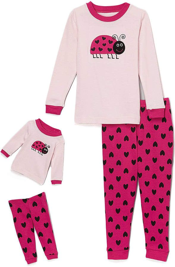 b5d9ae43725a Pink Ladybug Pajama Set   Doll Outfit - Toddler   Girls  ad