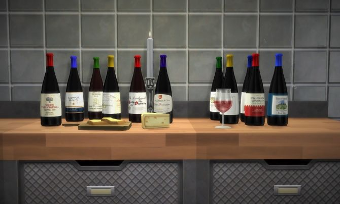 Nectar bottles at Budgie2budgie via Sims 4 Updates