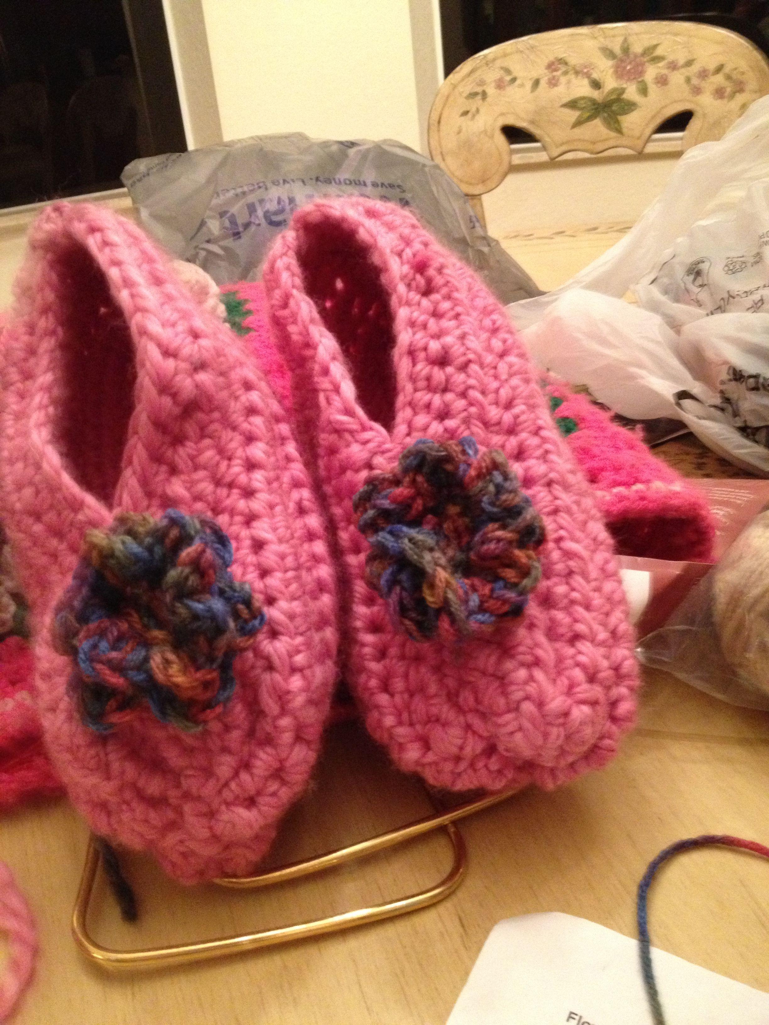 Crocheted Ladies Slippers