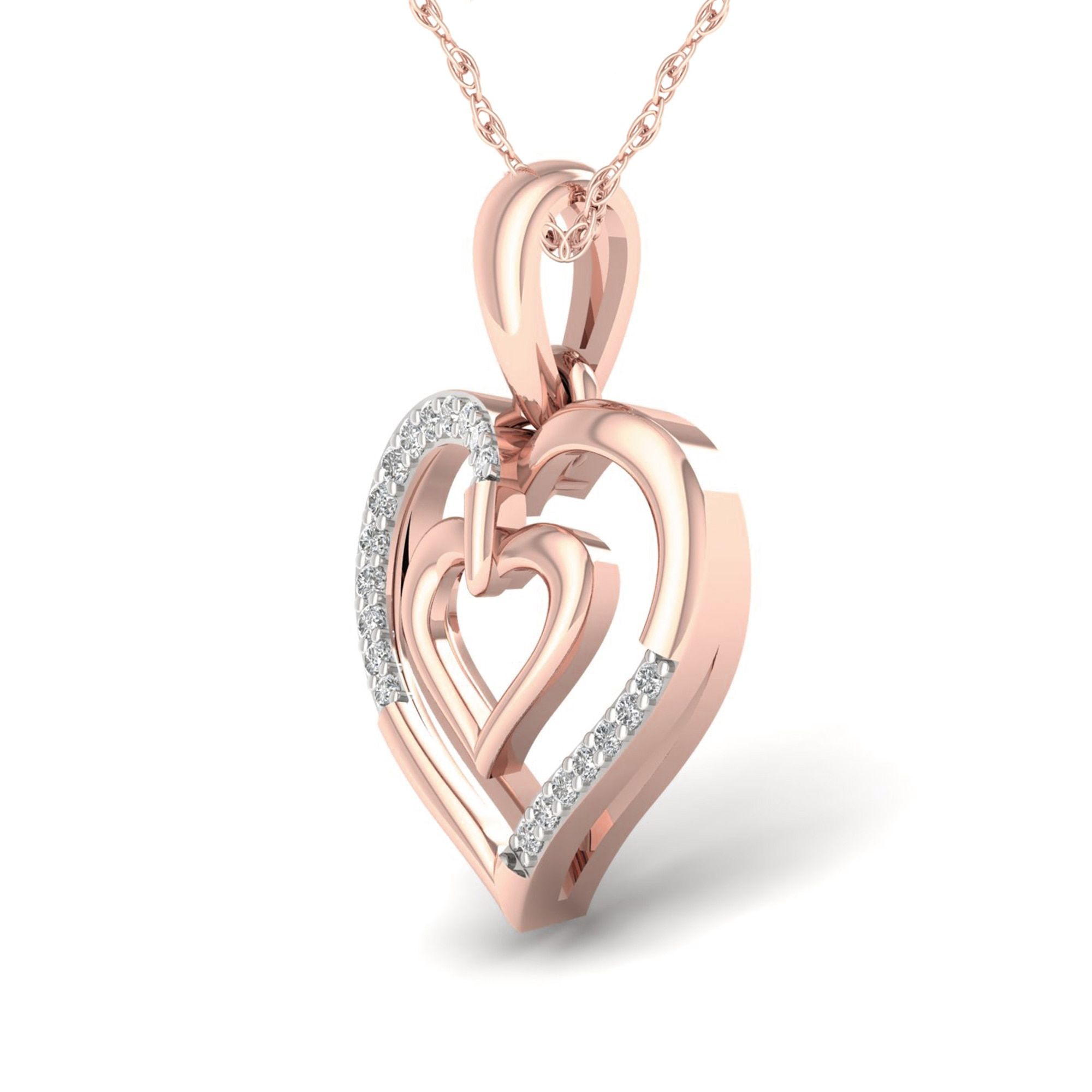 image upc on for inch mom accent necklace product diamond pendant tone prod heart