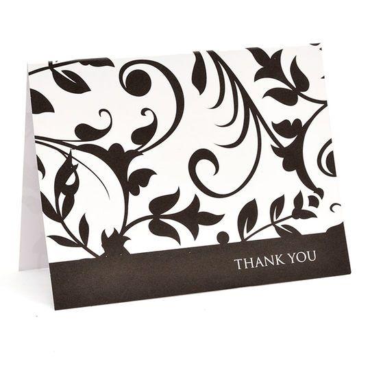 Gartner Studios Thank You Cards Black White Thank You Cards