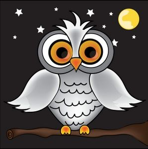 Cartoon Tree And Owl / Homehome decorposters & wall artcartoon tree owl wall stickers for kids bedroom.