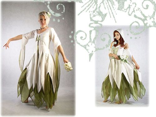 Pagan Wedding Dresses.Customizable Other Worldly Wedding Gowns From Zizzyfay Bridal The