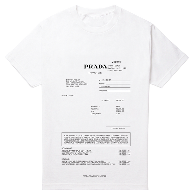 Meru Cab Receipt Word Fancy  Prada Invoice T Shirt By Hesher X Oculto  Tshirt  Template Of Receipt Of Payment with Keeping Receipts For Taxes Excel Fancy  Prada Invoice T Shirt By Hesher  Shell Receipt Word
