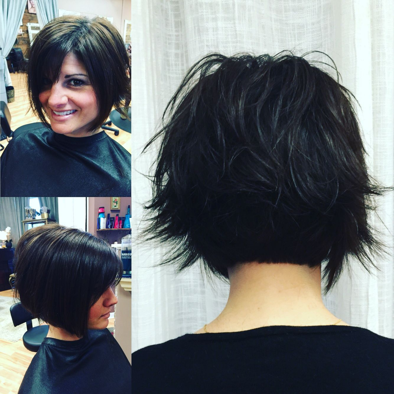 40 spectacular blunt bob hairstyles the right hairstyles - Short Haircut Razored Cut Short Sassy Haircut By Kimmyc7 Optonline Net