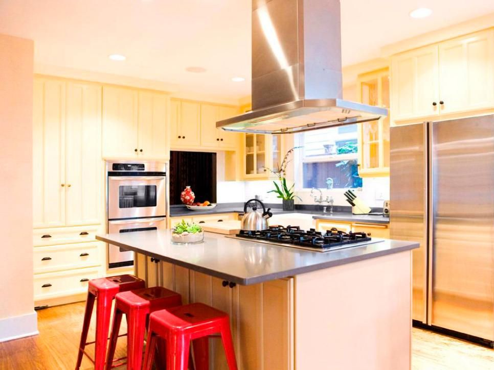 10 Kitchens That Pop With Color Hgtv, Remodeled kitchens and