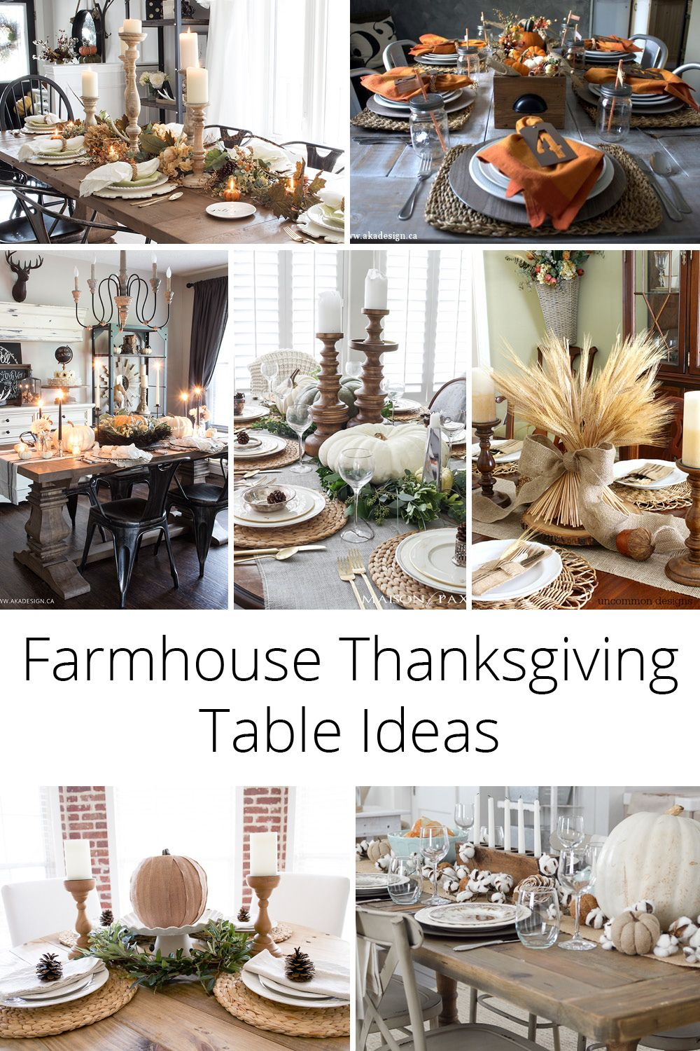 13 Farmhouse Thanksgiving Table Ideas To Help You Decorate Yours Thanksgiving Table Decor Fall Home Decor