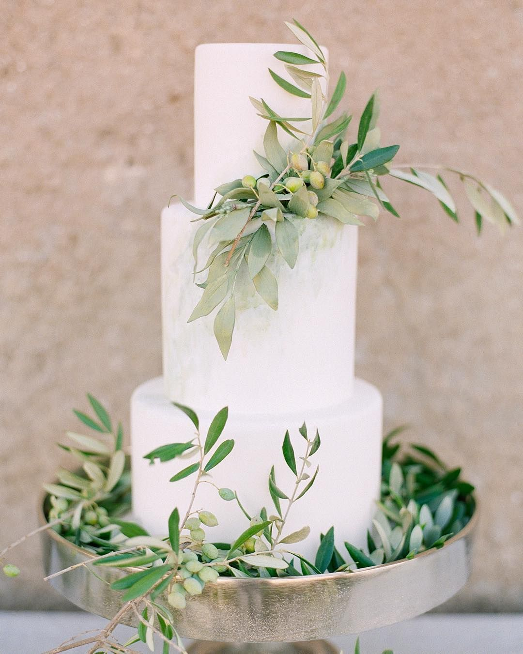 Olive Branch Decorated Wedding Cake @artiesestudios on ...
