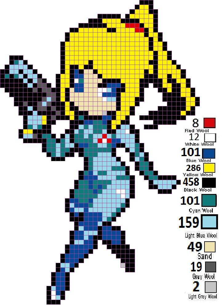 Image Result For Minecraft Pixel Art Anime  Pixel Characters