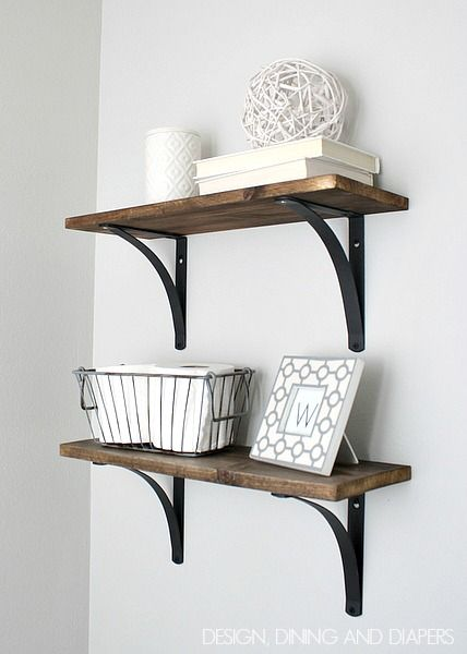 rustic diy bathroom shelving | small bathroom, rustic bathrooms