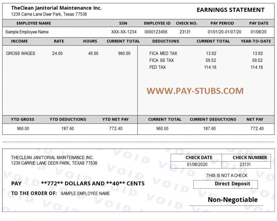Explore Our Image Of Pay Stub Template Without Tax Payroll Template Salary Templates