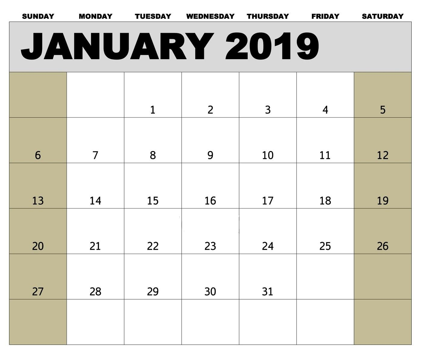 january 2019 biweekly payroll calendar template for employees