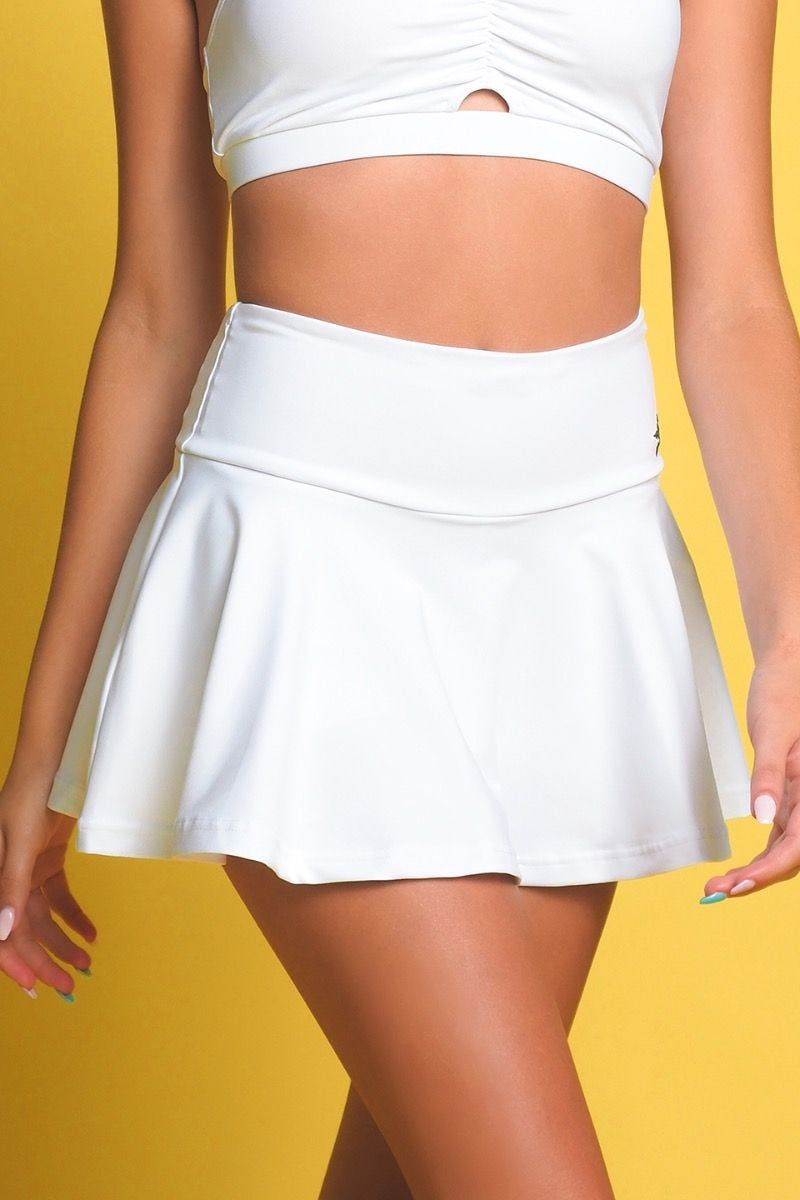 Go Getter Flouncy Skirt In White In 2020 Fashion Inspo Outfits Athletic Skirts Tennis Skirt