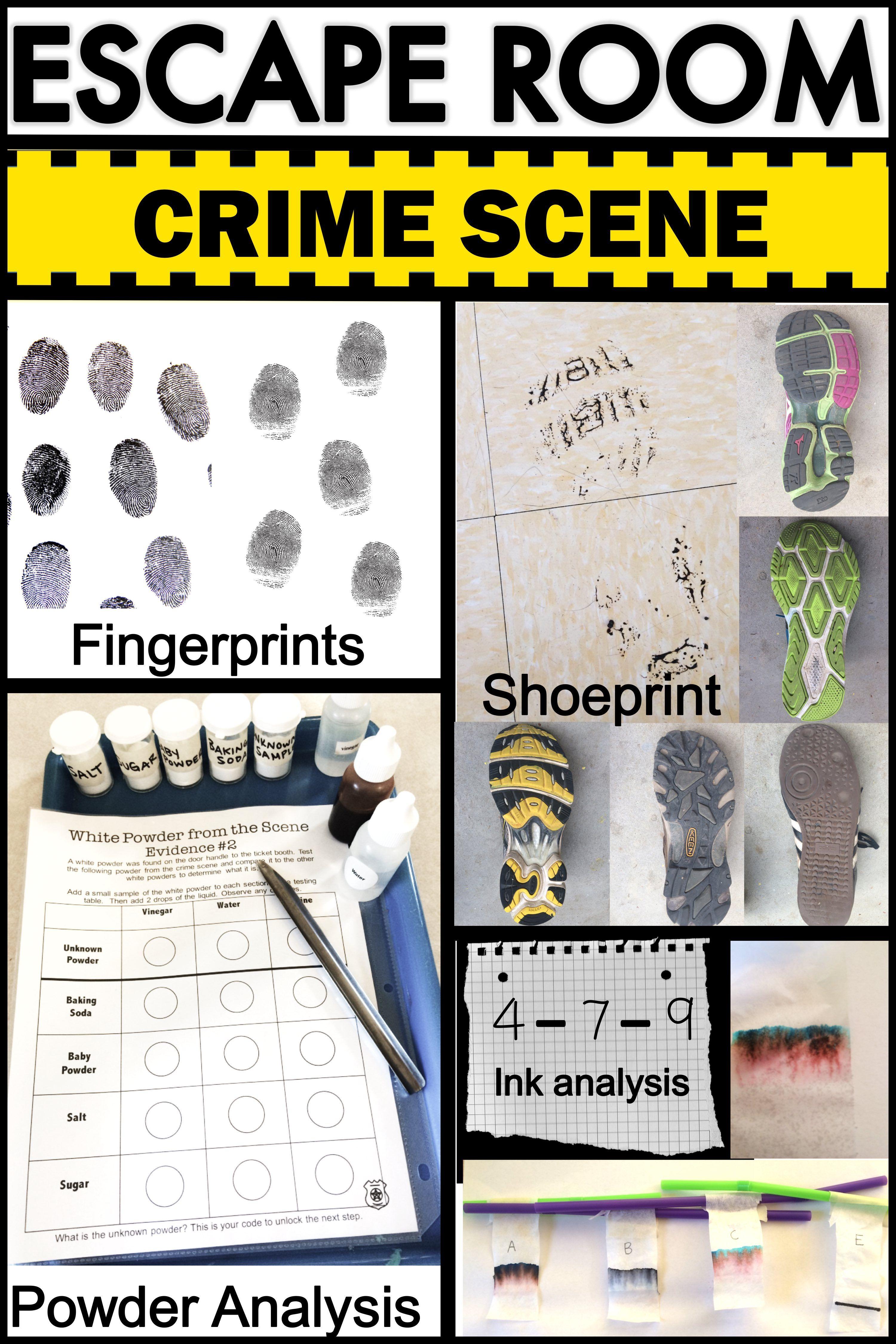 Csi Forensics Escape Room