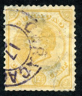 "Netherlands Antilles (Curacao) 1886 Scott 8 12 1/2c yellow ""William III"""