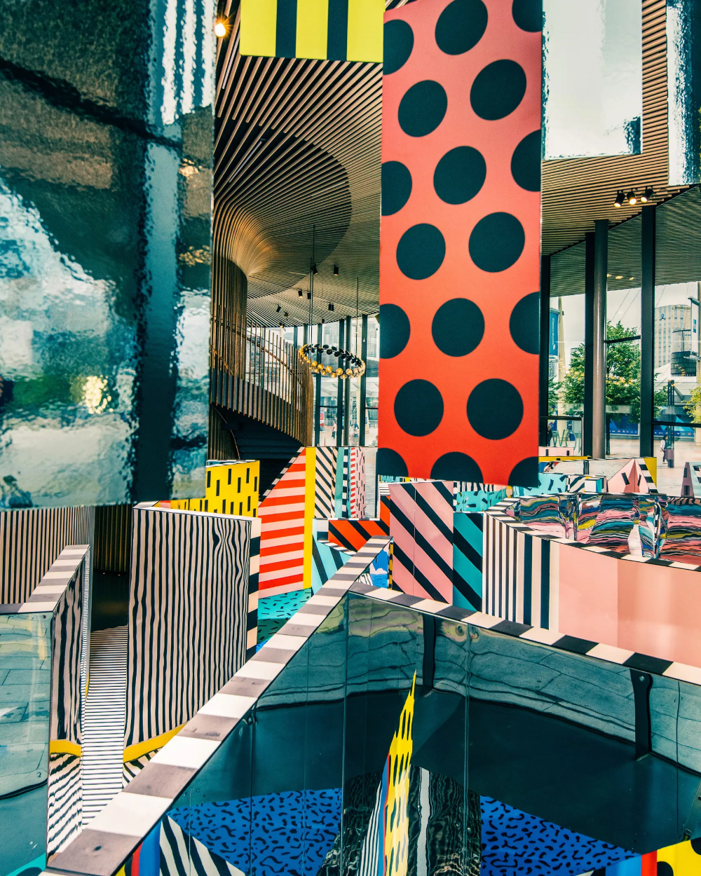 Get lost in a colorful maze in this new London installation