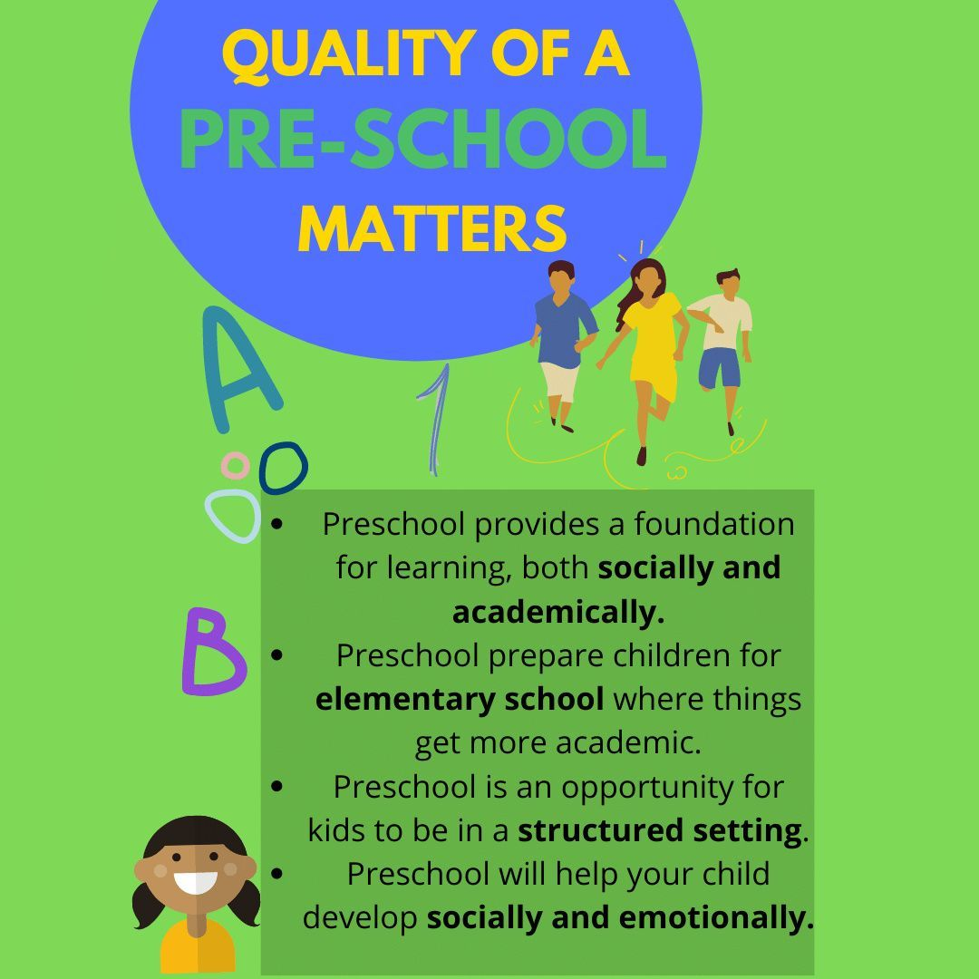 The Importance Of The Quality A Preschool For Kids In