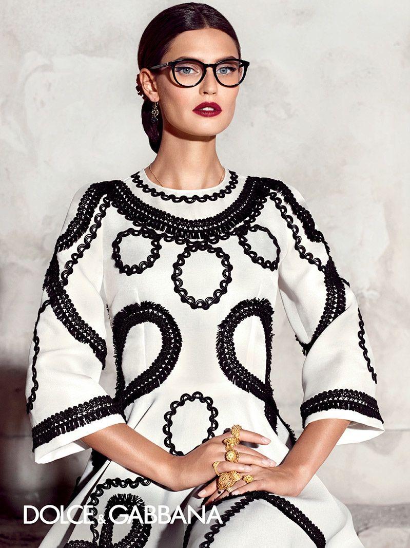 6685e4e9ebe5 Bianca Balti poses for Dolce   Gabbana spring-summer 2015 eyewear campaign.