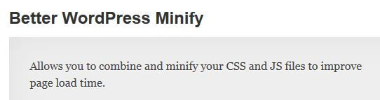 Better WordPress Minify Allows you to combine and minify