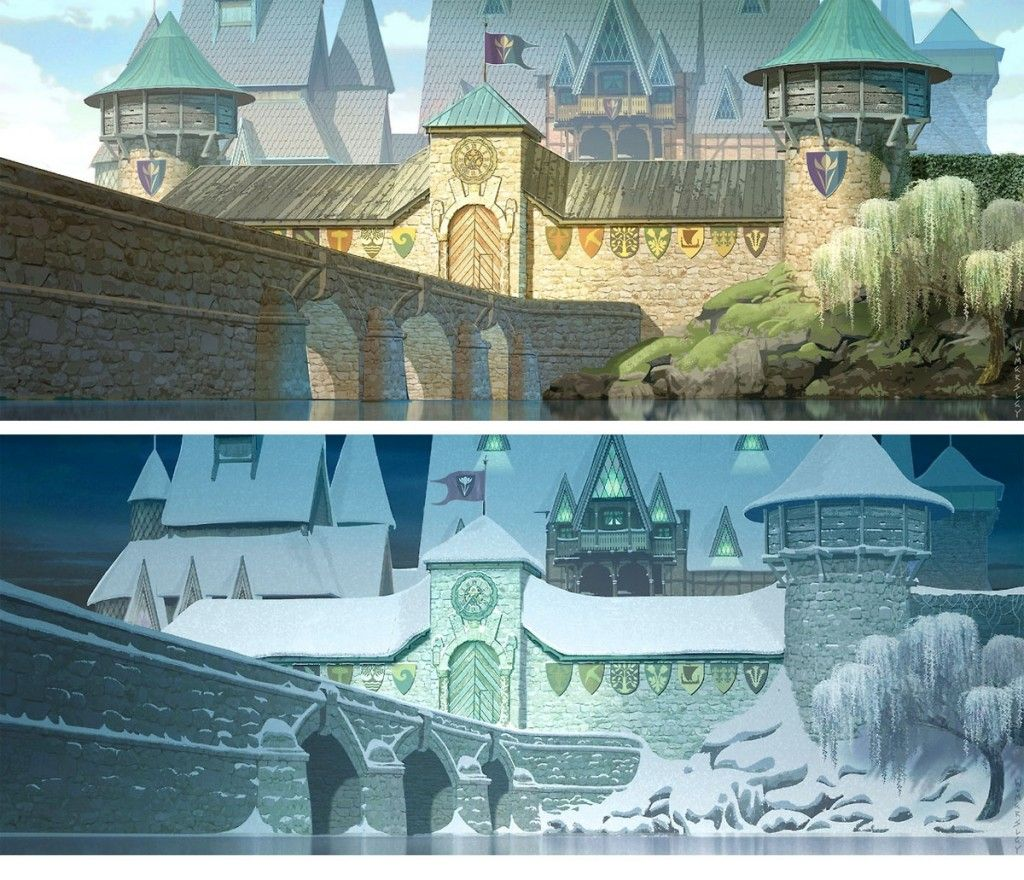 Frozen palace background  Frozen  Original Concept Art Collection  References  Pinterest