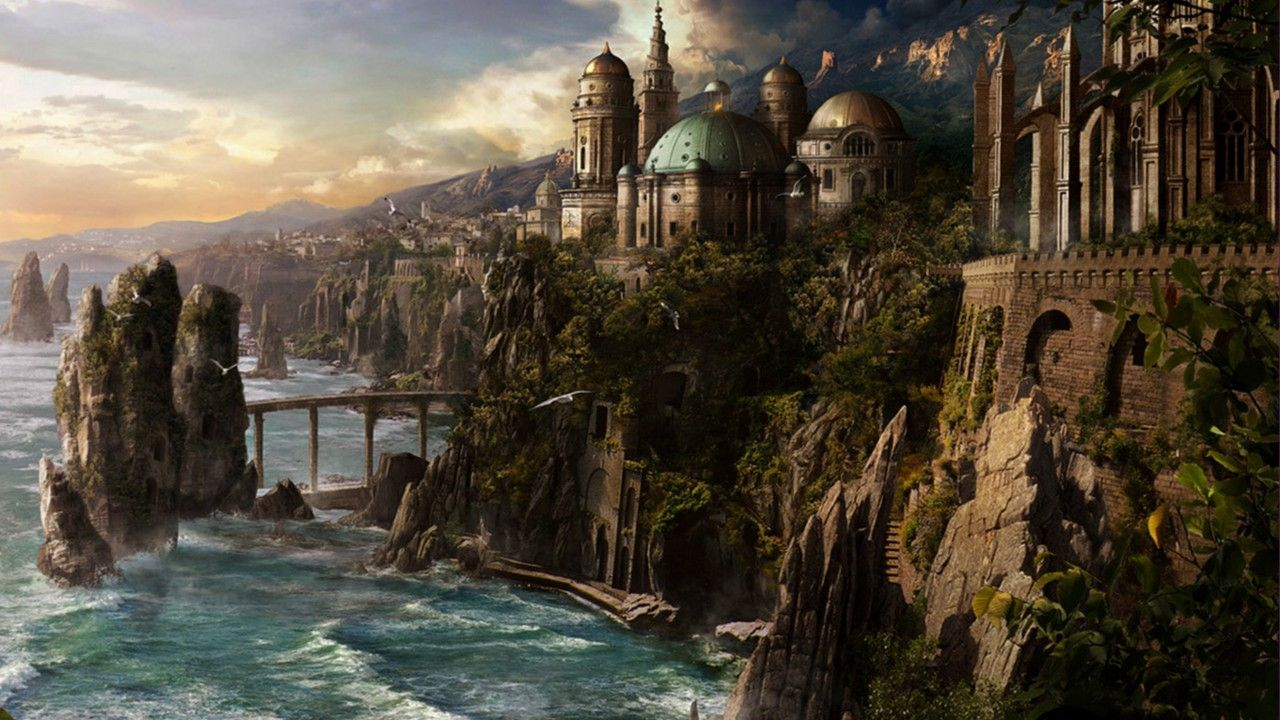 Fantasy Medieval City Fantasy City Wallpaper Fantasy