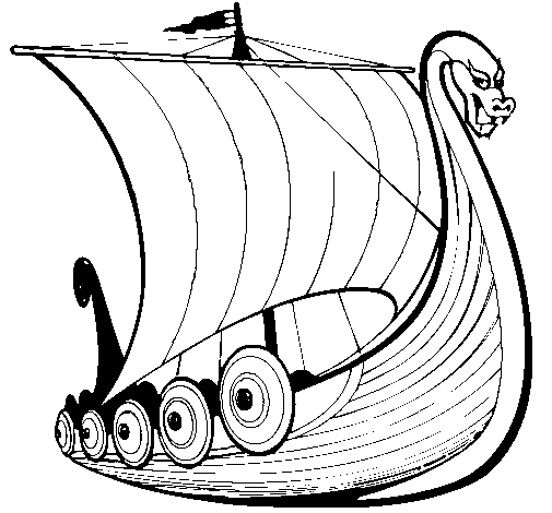 Colored Page Viking Boat Colored By Viking Boat Of The Category Vehicles Boats Viking Ship Viking Art Viking Designs