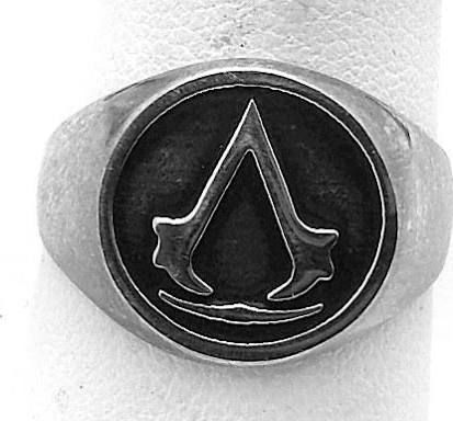 Solid Authentic Sterling Silver 925 Assassins Creed Logo Ring Unity Black flag Jewelry Custom Pick Your Ring Size We Have Sizes 3 to 14