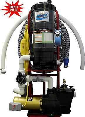 Top Gun Pro Portable Pool Vacuum Cleaner 1 5 Hp Hayward Pump W Vinyl Head Portable Pool Vacuum Pool Vacuum Cleaner Vinyl Pool